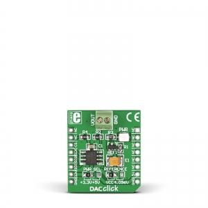 DAC Click - MCP4921  12-bit DA muunduri moodul