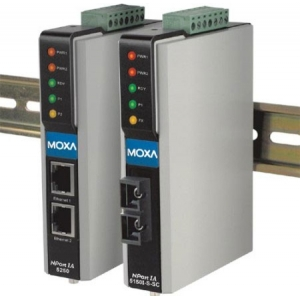 2 port RS-232/422/485 server, 2 x 10/100BaseT(X) (üks IP), 2 x DC toide, -40 kuni 75°C, serial/LAN/toite ülepingekaitse, opt. Is