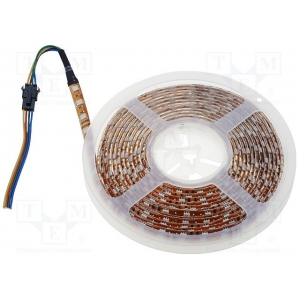 LED riba, 5m, 300 dioodi, RGB, 12V, 120° in gel