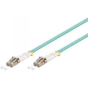 FO jätkukaabel multimode LC-LC duplex OM4 (50/125) 15.0m Aqua