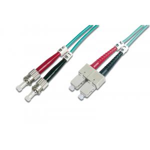 FO jätkukaabel multimode SC-ST duplex OM4 (50/125) 2.0m Aqua