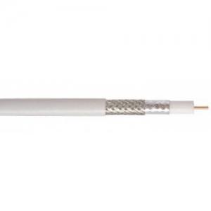 Koksiaalkaabel RG6U FeCu, 75Ohm 6,8mm SAT/TV valge 100m/rull
