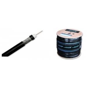 Koaksiaalkaabel RG6U FeCu, 75Ohm 6,8mm SAT/TV välitingimustele geeliga must 305m/rull