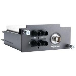 Moodul PT-7728-PTP seeria switchidele: 2 x 100BaseFX multi-mode porti (ST), 1 PPS väljund BNC pistikuga,  riistvaraline IEEE 158