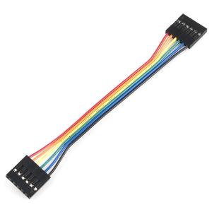 Kaabel 6p 2.54mm konnektoritega, eme/ema, 10cm