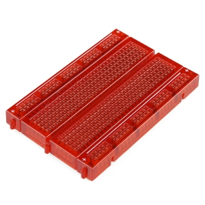 Makettplaat, 30 rida, läbipaistev punane