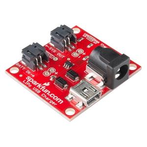 SparkFun LiPo USB laadija, USB ja DC sisend