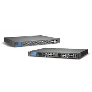 IEC 61850-3 modulaarne switch: 4 lisamooduli võimalus, kuni 24 + 4G porti, 2 x toiteplokk 88-300 VDC või 85-264 VAC, -40 kuni 85