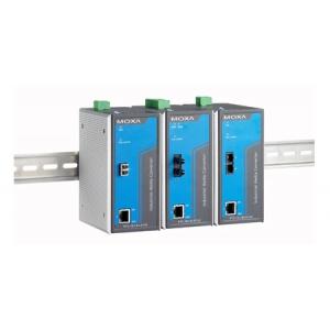 Tööstuslik konverter: 10/100BaseT(X) to 100BaseFX, multi mode, ST, 1 isoleeritud toiteplokk 88-300 VDC või 85-264 VAC, -40 kuni