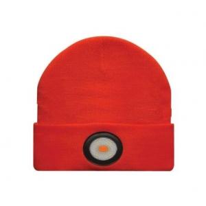 Müts USB laetava otsmikulambiga 150 lm, 420 mAh aku, IPX5, oranž