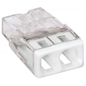 Ühendusklemm WAGO 2×1,5-2,5mm² läbipaistev