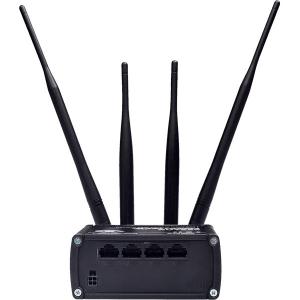 Tööstuslik LTE Wifi Ruuter: 2.4GHz, 3xLAN, 802.11b/g/n MIMO, -40°C-75°C, IP30