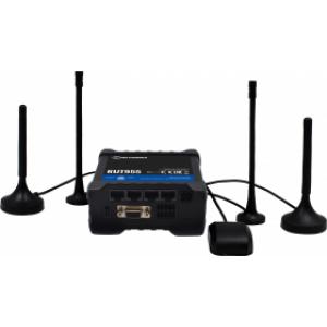 Tööstuslik LTE Wifi Ruuter: 2.4GHz, 3xEthernet, 802.11b/g/n, I/O, RS232, RS485, GNSS,  -40°C-75°C, IP30, komplektis antennid
