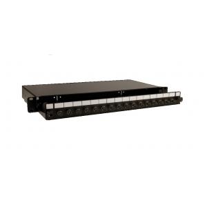 FO paneel 16xST/FC simplex liikuva riiuliga 19´´ 1U must tühi