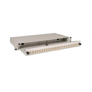 FO paneel 24xSC simplex liikuva riiuliga 19´´ 1U hall adapterita