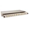 FO paneel 12xSC dupex liikuva riiuliga 19´´ 1U hall adapterita