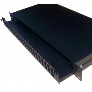 FO paneel 24xSC duplex 19´´ liikuva riiuliga 1U must adapterita