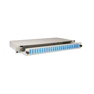 FO paneel 24xSC duplex liikuva riiuliga 19´´ 1U hall adapterita