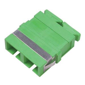FO adapter singlemode SC/APC duplex roheline flangeless