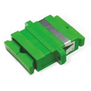 FO adapter singlemode SC/APC duplex roheline