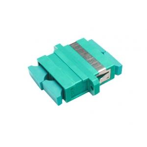 FO adapter multimode SC duplex aqua