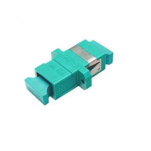 FO adapter multimode SC simplex aqua