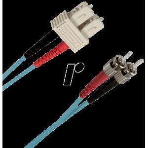 FO jätkukaabel multimode SC-ST duplex OM3 (50/125) 1.0m