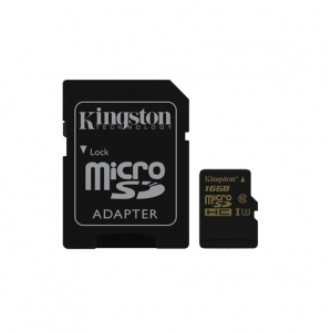 KINGSTON 16GB microSDHC  UHS-I Card Class 10