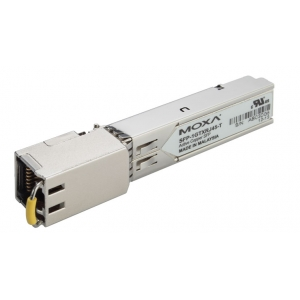 MOXA SFP-1GTXRJ45-T SFP module with fixed 1000 Base-T port, RJ-45 Connector, -40~75°C Operation Temperature