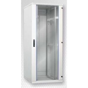 Seadmekapp 24U 1195x600x800 k,l,s, klaasuks, kandevõime kuni 600kg, hall, SRS