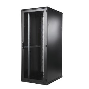 Seadmekapp 24U 1195x600x1000 k,l,s, perforeeritud uksed, kandevõime kuni 1000kg, must, TOP III
