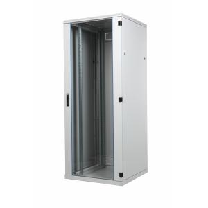 Seadmekapp 45U 2120x800x1000 k,l,s, klaasuks, kandevõime kuni 1000kg, hall, BOX