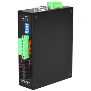 Tööstuslik konverter RS-232/422/485 > Single Mode kuni 30km SC, -40°C kuni 70°C, kompaktne