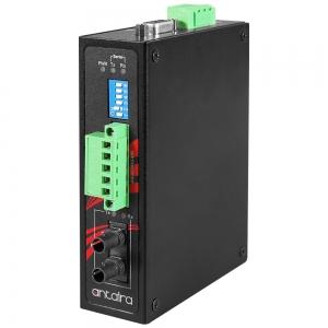 Tööstuslik konverter RS-232/422/485 > Single Mode kuni 30km ST, -40°C kuni 70°C, kompaktne