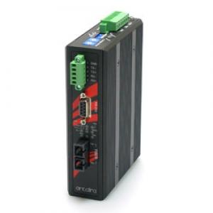 Tööstuslik konverter RS-232/422/485 > Single Mode kuni 30km ST, -40°C kuni 75°C, 2.5kV isolatsiooniga
