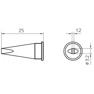 LHT-C kolviots lapik 3,2x1,6mm WSP-150