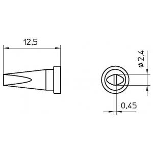 LT-BSL Slimline kolviots lapik 2,4mm WP80