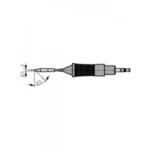 RT6MS ROUND SLOPED TIP CART, 2.2MMX0.4MM