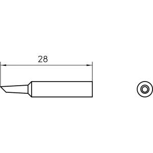 XNT AA 45° SOLDER TIP 1.6MM (10 pcs.)
