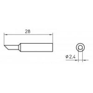 XNT BB 45° SOLDER TIP 2.4MM (10 pcs.)