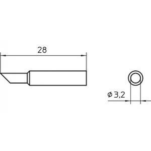 XNT CC 45° SOLDER TIP 3.2MM (10 pcs.)