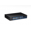 Switch:16 x Gigabit, 4 x shared Mini-GBIC/RJ-45, SNMP, Web Smart, räkitav