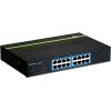 Switch: 16 x 10/100/1000Mbps, metallist, madal voolutarve, räkitav kinnitustega ETH-11MK