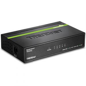 Switch: 5 x 10/100/1000Mbps, metallist, madal voolutarve, energiasääst kuni 70%