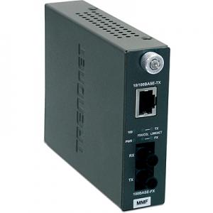FO konverter: 100Base-TX <> 100Base-FX Multi Mode ST / 2km