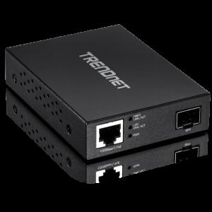 FO konverter: 100/1000Base-T <> SFP Media Converter, PoE toitega