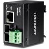 Tööstuslik FO konverter: 100Base-TX <> 100Base-FX Single Mode SC / 30km, IP40, DIN,  -40 to 75 ºC