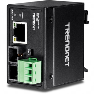 Tööstuslik FO konverter: 10/100Base-TX <> 100Base-FX Multi Mode SC / 2km, IP40, DIN,  -40 to 75 ºC