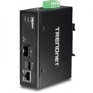 Tööstuslik FO konverter: 100/1000Base-T <> SFP Media Converter, Din, IP30, -40 to 75 ºC