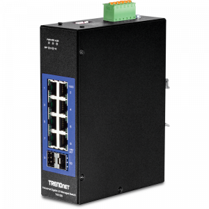 Tööstuslik Switch: 8 x Gigabit, 2 x SFP, Layer 2, Din-rail, IP30, -40 to 75 ºC